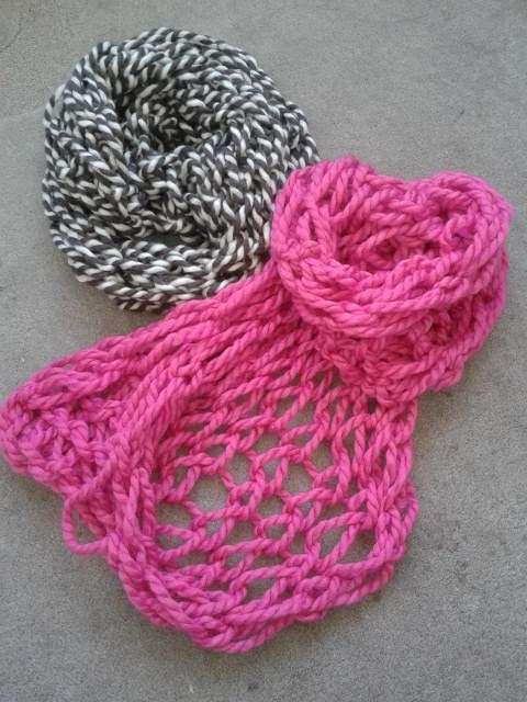 Gearmbreide sjaal